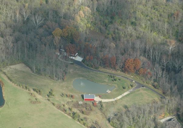 Gander Run Ridge, House nestled in the woods overlooking Gander Run Creek on 10 acres., Gander Run Ridge - Looking NE  , Home Exterior Design