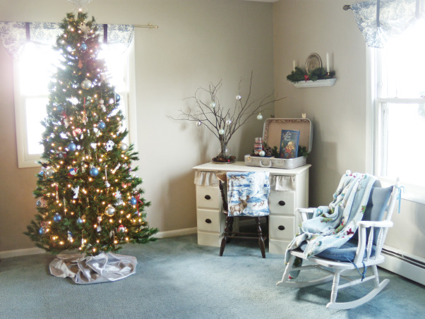 Christmas Decor, An overall view of the living room all decked out in christmas cheer.  , Holidays Design