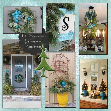 I'm dreaming of a {turquoise} Christmas!!, Red and green will not be seen this holiday season around my home!!!! Turquoise is in its full glory and splendor, such a festive shade of blue!! , Holidays Design