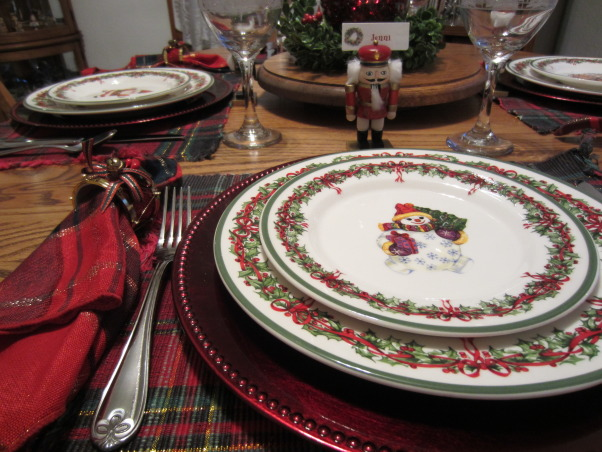 Casual Holiday Dining, I love traditional Christmas colors of green and red, especially with tartan plaid. , Casual holiday dining in our 85-year-old colonial home.  , Holidays Design