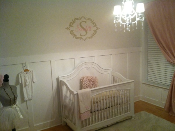 All White Nursery, I went with an all white theme for our daughters first room.  We are expecting a baby girl Feb 2013! It is so calm and relaxing.  I love just spending time there already., Young america Isabella crib, Nurseries Design