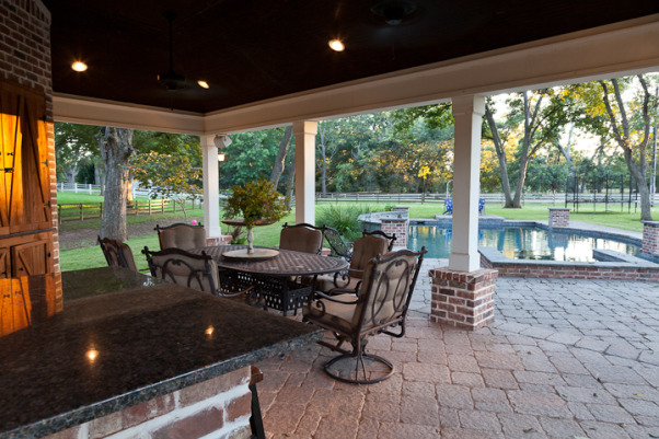 Southern Charm Outdoor Living, our outdoor extension of the house - we do a lot of grilling, swimming, and enjoying life here with family and friends, Pools Design