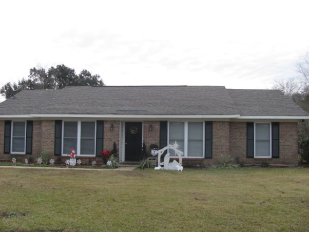 Boring ranch needs help, Just purchased this home and had new roof installed. What could we do to give it more curb appeal? Considering painting the brick.. , Needs curb appeal!!  , Home Exterior Design