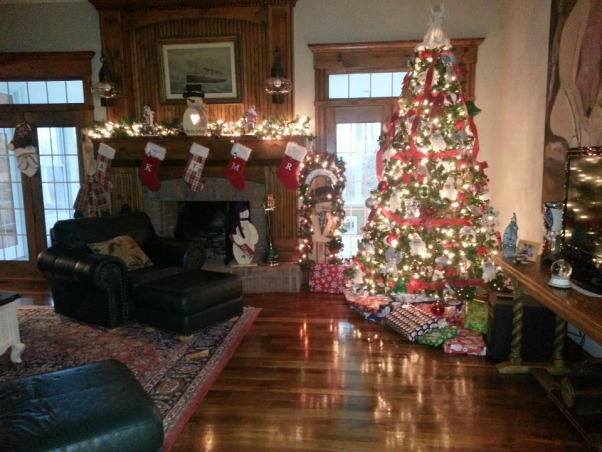 My Country Christmas, Beautiful woodwork throughout the house give it that country feel.  I love to decrate for all holidays but Christmas is simply my favorite! ;-), A little bit of country.    , Holidays Design