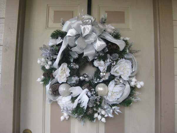 Christmas 2012- Silver and White theme, My Artic Wonderland Christmas Tree this year!, My custom made wreath. , Holidays Design
