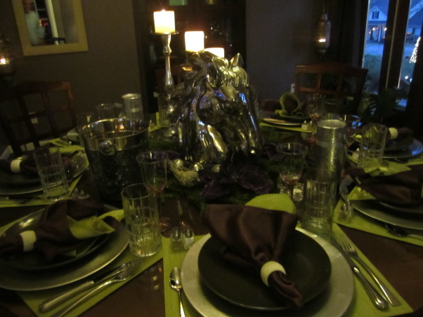 Christmas 2012, Formal dining, right before the dinner party, Dining Rooms Design