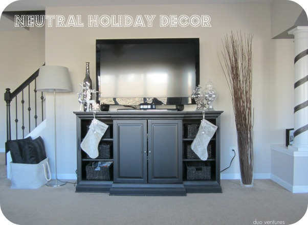 Neutral & Modern Holiday Decor, We like to keep our holiday decor color schemes & themes neutral.  We are relatively new homeowners, so we don't have a ton of decorations yet, but each year we add to our collection...hope you like it!  :), duoventures.blogspot.com      , Holidays Design
