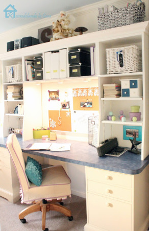 Teen Girl Room, She got tired of pink, her new favorite color: Navy blue!  That's what she asked for! Plus polka dots, a window bench and a desk. http://www.remodelandolacasa.com/2012/12/teen-girl-room-reveal.html, Girls' Rooms Design