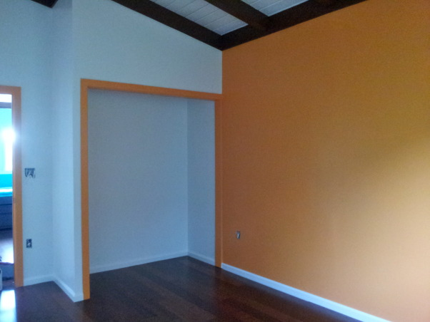 Orange Traditional/Modern Pre-Teen Bedroom , Before photo. Closet., Girls' Rooms Design