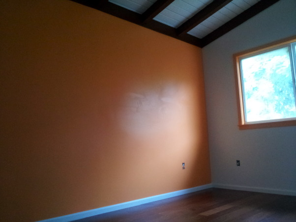 Orange Traditional/Modern Pre-Teen Bedroom , Before photo. Bold color accent wall., Girls' Rooms Design