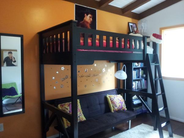 Orange Traditional/Modern Pre-Teen Bedroom , Girls' Rooms Design