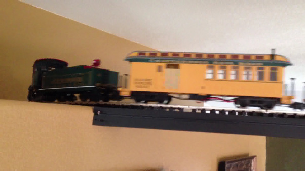 Christmas Holiday 2012, Thought I would add the indoor RailRoad my husband added to the decor. The engine has working smoke, realistic syncronized sound, and working lights in the passenger cars.  The Living Room railroad runs also into the kitchen., Living Rooms Design