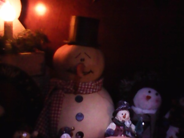 Country Christmas 2012, Here are a few  photos of our Christmas decorations. , The snowman with the black top hat was made by me and my husband. I love snowmen! , Living Rooms   Design