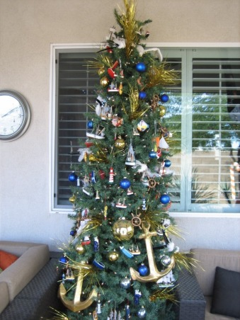 Christmas Decorations 2012, Different Rooms in my home, Nautical Tree  , Holidays Design