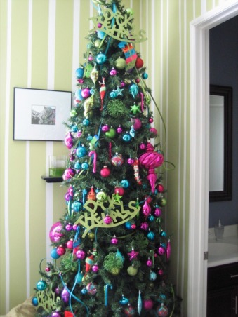 Christmas Decorations 2012, Different Rooms in my home, Green Room Tree   , Holidays Design