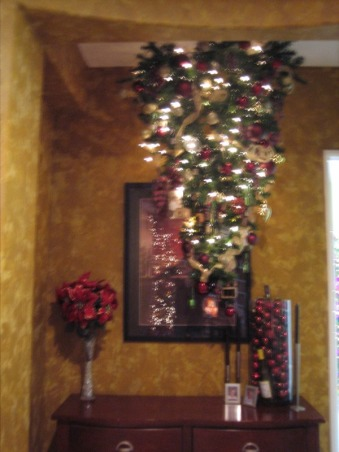 Christmas Decorations 2012, Different Rooms in my home, Upside Down Tre  , Holidays Design