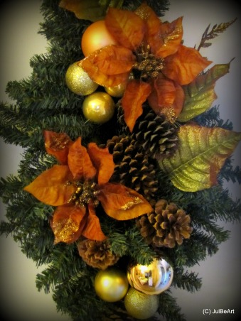 Autumn Breeze, Paying homage to my favorite season, Fall!, Teardrop swags on doorways..      , Holidays Design