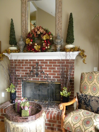 Christmas is Home for the Holidays!, Our Home decorated for Christmas!  It is a lot of work, but love it, love decorating, and truely love to stand back and take a deep breath, and enjoy every piece of Christmas.  It is my favorite time of the year!, The Family Room Fireplace and the surrounding seating area.  , Holidays Design