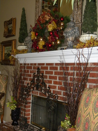 Christmas is Home for the Holidays!, Our Home decorated for Christmas!  It is a lot of work, but love it, love decorating, and truely love to stand back and take a deep breath, and enjoy every piece of Christmas.  It is my favorite time of the year!, The Fireplace in the Family Room.   , Holidays Design
