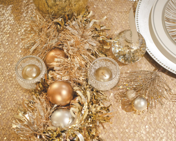 Glam Holiday Table, A glamorous tablescape for Christmas, Hanukkah, or New Years!, Holidays Design