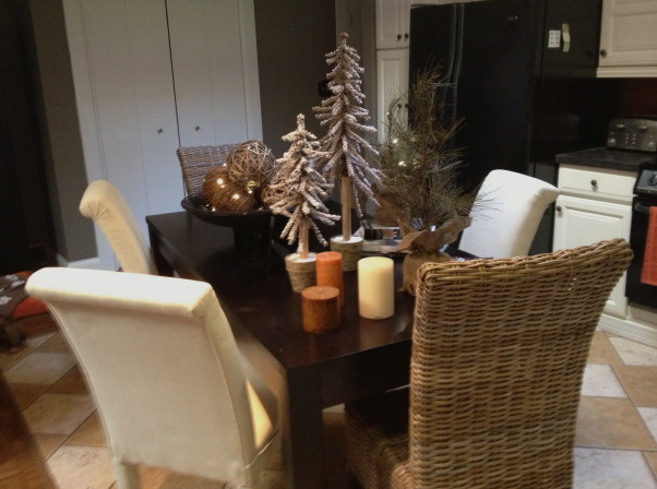 Holiday Tine, kitchen table with mix and match chairs ...did the trees this year  , Kitchens   Design