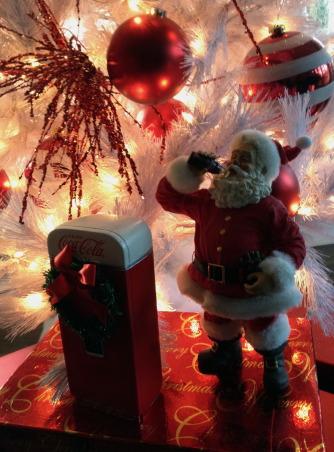 Christmas Time, patio with all the Christmas decor, Santa and a coke     , Holidays      Design