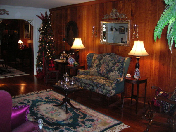 Merry Christmas, Living Room and Dining Room decorated, Living Room , Holidays Design