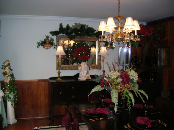 Merry Christmas, Living Room and Dining Room decorated, Dining Room , Holidays Design
