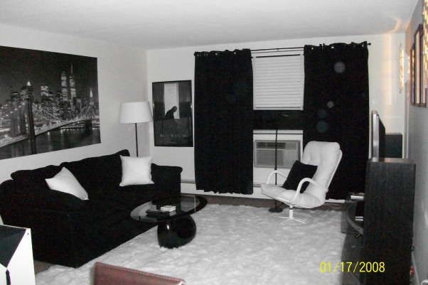 Black & White Living Space, Always wanted a black and white modern style living room :)  , Living Rooms Design