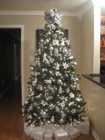 Christmas 2012- Silver and White theme, My Artic Wonderland Christmas Tree this year!, Holidays Design