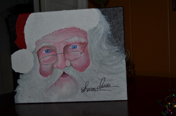 Christmas 2012, It's the Most Wonderful Time of the Year!, This was a GIFT was a lovely lady who attended a party at my home, she painted it for me because she knew I loved Santa's! , Holidays Design