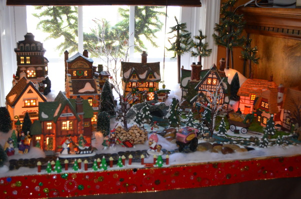 Christmas 2012, It's the Most Wonderful Time of the Year!, Village in the Playroom beside fireplace   , Holidays Design