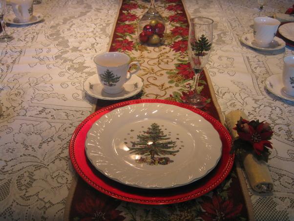 Christmas tablescape 2012, Christmas 2012 tablescape, Holidays Design