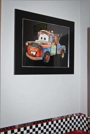 Disney Cars Bedroom, Disney Cars theme bedroom Includes a stoplight and a gas pump gumball machine, Mater 16x20 , Boys' Rooms Design