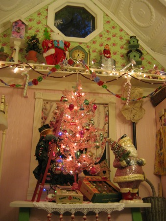 Santa's Workshop and Mrs. Claus' Candy Cane Kitchen, My potting shed is transformed into a magical extension of the North Pole at Christmas., Holidays Design