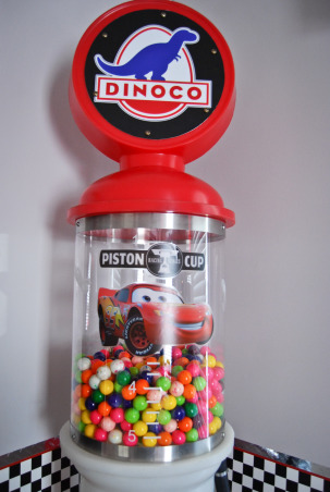 Disney Cars Bedroom, Disney Cars theme bedroom Includes a stoplight and a gas pump gumball machine, 7 ft tall Dinoco gas pump gumball machine , Boys' Rooms Design