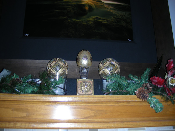 """Faberge Egg"" Christmas Mantelpiece, My homage to the lovely Faberge eggs.  , Living Rooms Design"