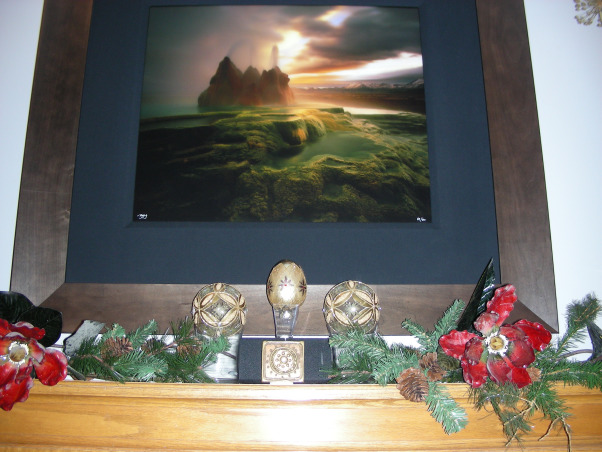 """Faberge Egg"" Christmas Mantelpiece, My homage to the lovely Faberge eggs.  , A recent remodel of our family room and fireplace inspired me to completely change the way I had decorated our mantelpiece every year. It was always the same!  Not this year...This is my homage to the fabulous Faberge Egg.     , Living Rooms Design"