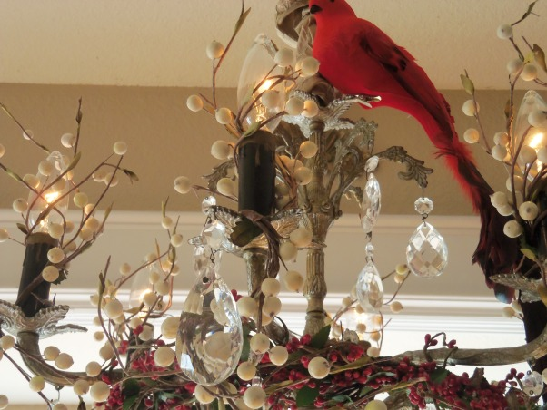 Holiday Chandeliers, During the holidays, my favorite thing to decorate are my crystal chandeliers.I Love birds and anything nature and I Love the response I get from my guests!!!, Holidays Design