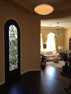 iron door entry, Home Exterior   Design