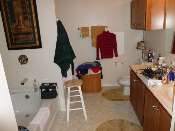 Disorganized Bathroom, A bathroom that needs a lot of organization and upgrades, Bathrooms Design