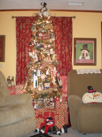 Christmas cheer, These are my gifts and tree for 2012. I used a lot of burlap and scrabble letters this year. Scrabble letters from garage sales, and burlap was left over from my crafts. Thanks for dropping by. Have a blessed year., Holidays Design