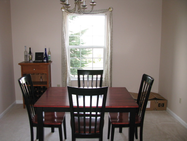 New Dining Room, Newly decorated dining room with a slight music theme., Before Picture. , Dining Rooms Design