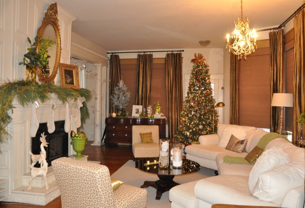 A White Christmas Bungalow Decorated for the Holidays, Exterior of home with homemade wreaths and Christmas decorations and the snow of Christmas Eve, I always wanted  to make this space.....functional but still comfortably cozy.   , Holidays Design