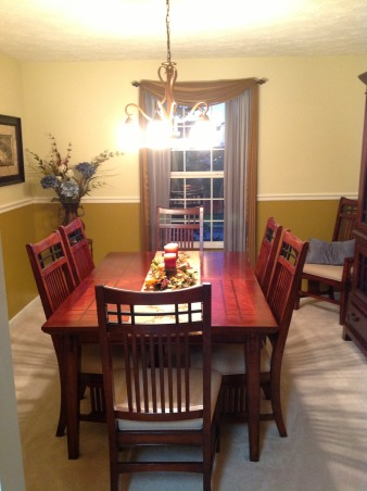 New Dining Room, Newly decorated dining room with a slight music theme., After Picture , Dining Rooms Design