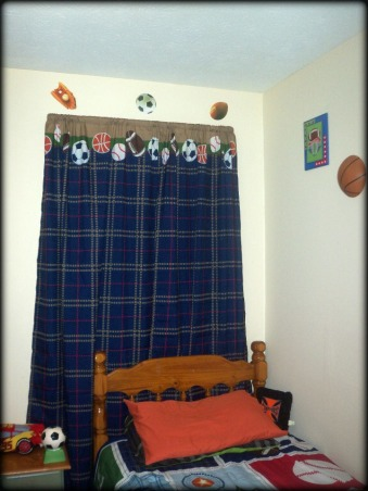 6 year old sons room, Sporty!, curtains after , Boys' Rooms Design