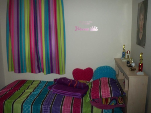 8 year old daughters room, Her colorful space!, curtains before , Girls' Rooms Design