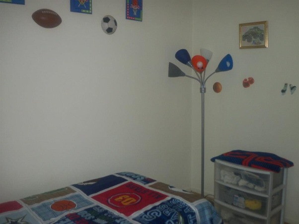 6 year old sons room, Sporty!, lamp added with decals , Boys' Rooms Design