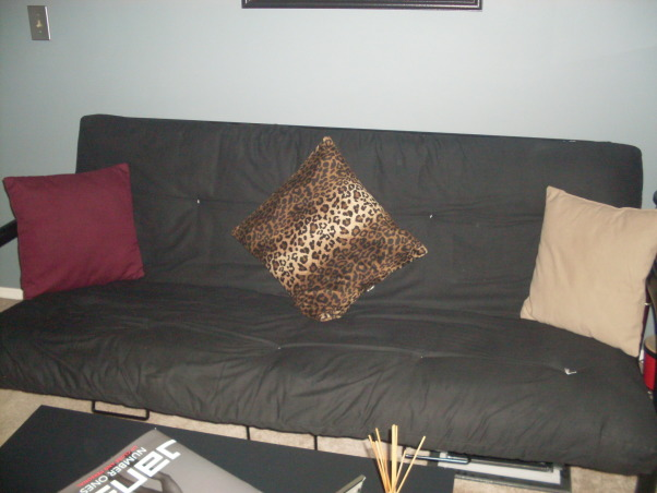 Den / Sitting area, Den/entertainment room , The outdated futon that use to be in the room.    , Other Spaces Design