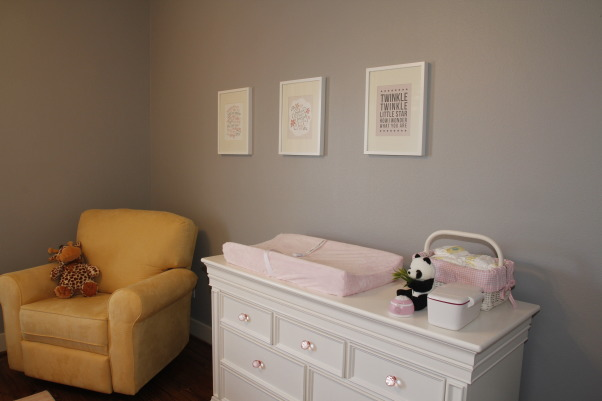 Pink & Gray Alina's Baby Nursery, Pink and Gray Nursery for my Baby Girl, Baby's Dream Legendary Collection Dresser, Nurseries Design